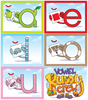 Short Sound Vowel Buddy Combo Pack (Cards and Posters)