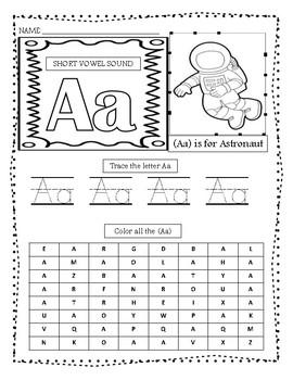 Short Sound of the Vowel Activities