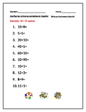 Short Spanish-Math Activity to Reinforce Math and Numbers