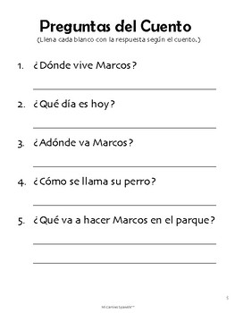 short spanish stories for kids with worksheets learn spanish question words. Black Bedroom Furniture Sets. Home Design Ideas