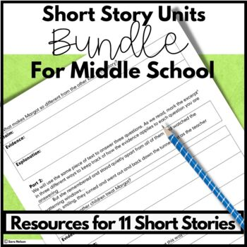Middle School Short Stories Lesson Plans for Comprehension