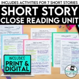 Short Stories Close Reading Bundle (Digital and Print)