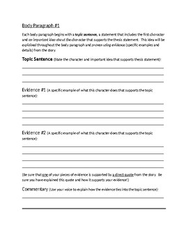Short Stories Essay Assignment