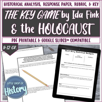 """Short Stories & History: Fink's """"The Key Game"""" and WWII/Holocaust"""
