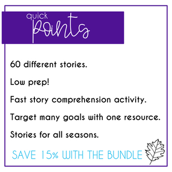 Short Stories Language Comprehension Seasonal Bundle
