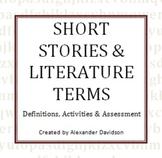 Short Stories & Lit Terms - Definitions, Activities, Asses