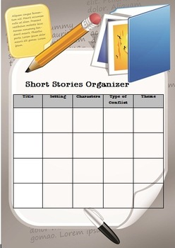 Short Stories Organizer