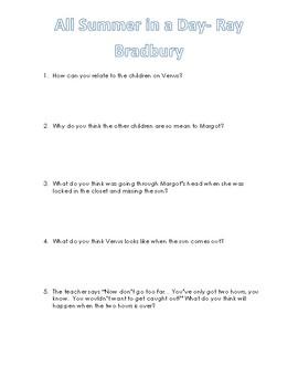 Short Stories Response Questions