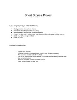 Short Stories Unit Plans