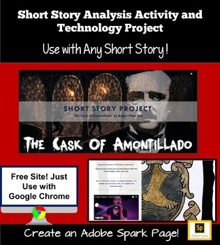 Short Stories Unit: Story Analysis and Technology Project.  Use with ANY story!