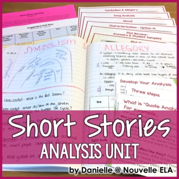 Short Stories Unit for Interactive Notebooks