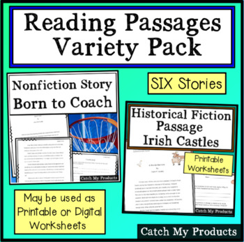Reading Comprehension Passages - Short Stories for Reading Response
