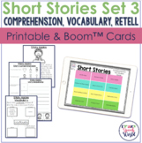 Short Stories for Comprehension, Vocabulary, & Retell Set 3