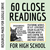 Short Stories for High School - Close Reading Worksheets Growing Bundle