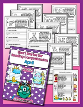 Short Stories for Reading Comprehension - April