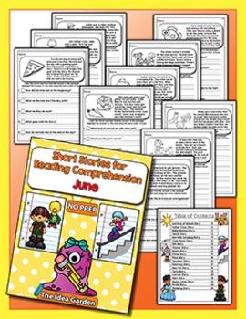 Short Stories for Reading Comprehension - June