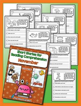 Short Stories for Reading Comprehension - November