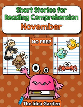 Short Stories for Reading Comprehension - November