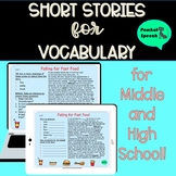 Short Stories for Vocabulary for Middle & High School