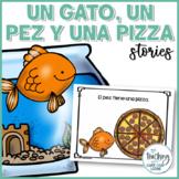 Short Stories in Spanish - Un gato, un pez y una pizza