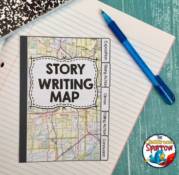 Short Story Writing INTERACTIVE NOTEBOOK Flip Book (Story Map & Handouts)