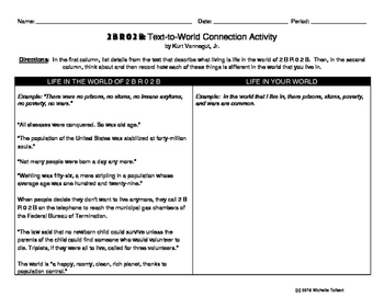 Short Story 2BR02B Text-to-World Connections