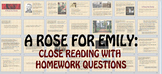 Short Story: A Rose for Emily by William Faulkner