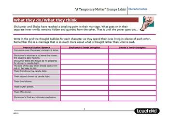 Short Story: 'A Temporary Matter' Jhumpa Lahiri