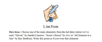 """Short Stories:""""I Am Poetry"""" and more:All Summer in a Day, Eleven, Scout's Honor"""