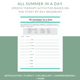Speech Therapy - All Summer in a Day, Ray Bradbury