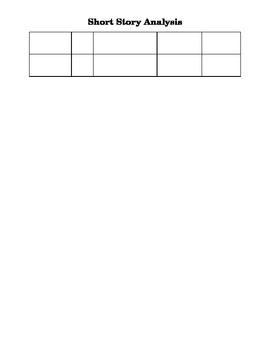 Short Story Analysis Graphic Organizer