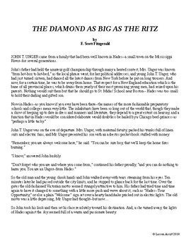 The Diamond as Big as the Ritz by F. Scott Fitzgerald: Short Story Analysis