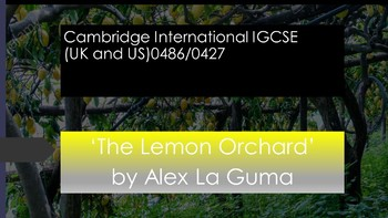 Short Story Analysis: The Lemon Orchard by Alex La Guma