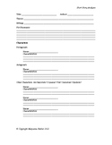 Short Story Analysis Worksheet