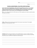 Short Story Analysis Worksheet - From a View to a Kill by