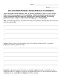 Short Story Analysis Worksheet - Harrison Bergeron by Kurt