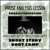 Short Story Boot Camp - Characterization