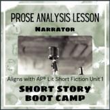 Short Story Boot Camp - Narrator