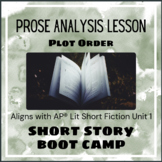 Short Story Boot Camp - Plot Orders