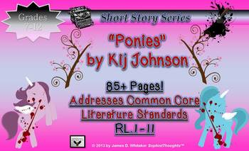 Short Story Bundle The Lottery Shirley Jackson & Ponies Kij Johnson Common Core