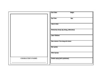 Short Story Character Card