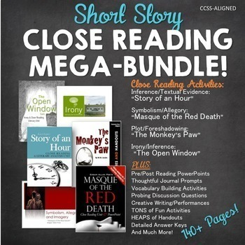 Close Reading Short Story MEGA-BUNDLE:140+ Pgs of CCSS Ali
