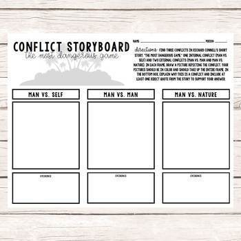 Short Story Conflict Storyboards