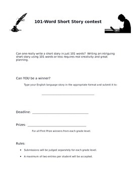Short Story Contest - 101 Words