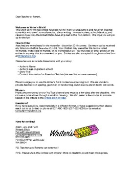 Short Story Contest - WritersBrick.org December 2018
