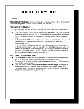 Short Story Cube