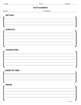 Plot Elements - Graphic Organizers