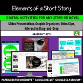 Short Story Elements Graphic Organizers, Reading Comprehension Activities