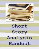 Short Story Analysis Handout