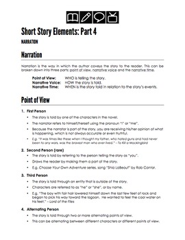Short Story Elements: Narration